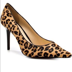 NWB  Guess leopard calf pointed toe heels size 9.5